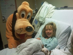 Pluto provided a good distraction while Alex needed a new IV.