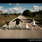 Fun photo in the middle of the road!