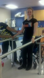 Alex, in a physical therapy session