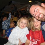 Kaitlyn, Alex & Daddy at an Orlando Magic game